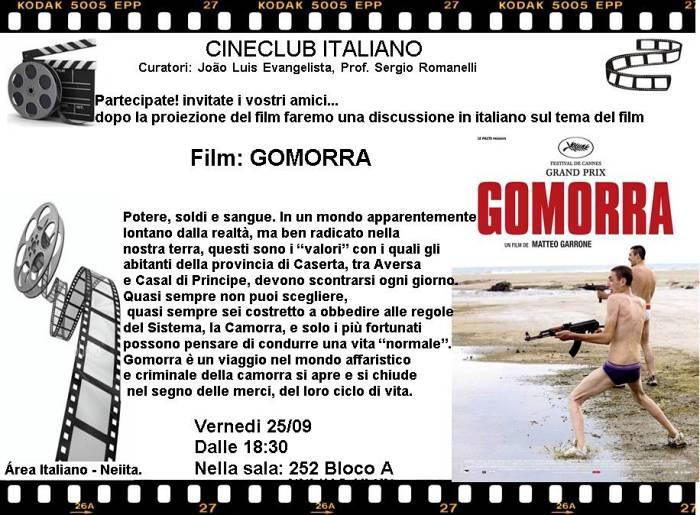 "Cineclub Italiano apresenta ""Gomorra"" (2008)"