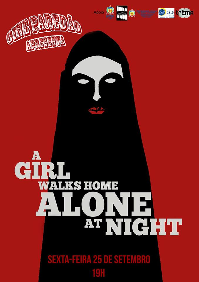 "Cine Paredão exibe filme de horror ""A Girl Walks Home Alone At Night"""
