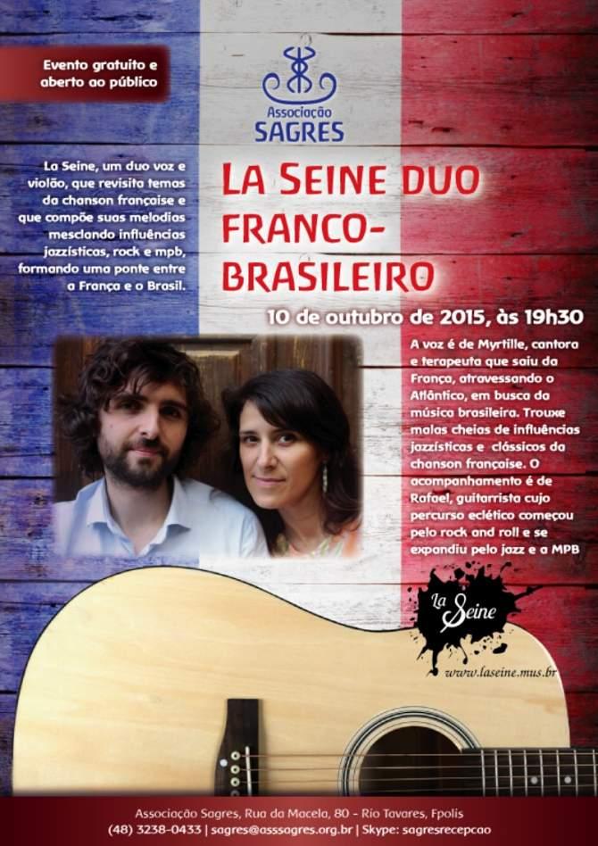"""Duo Franco-Brasileiro """"La Seine"""" realiza concerto gratuito"""