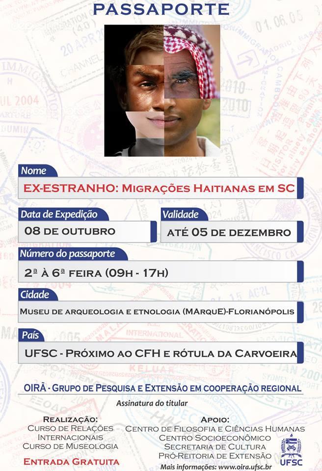"""MArquE recebe exposição """"Ex-estranho: migrações haitianas em Santa Catarina"""""""