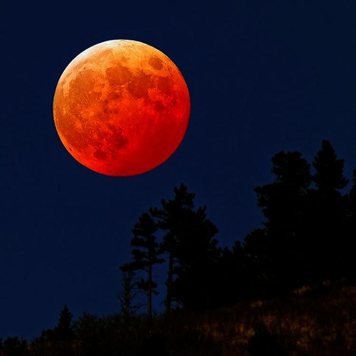 Observação Astronômica de Eclipse Lunar Total e Superlua na Beira-Mar