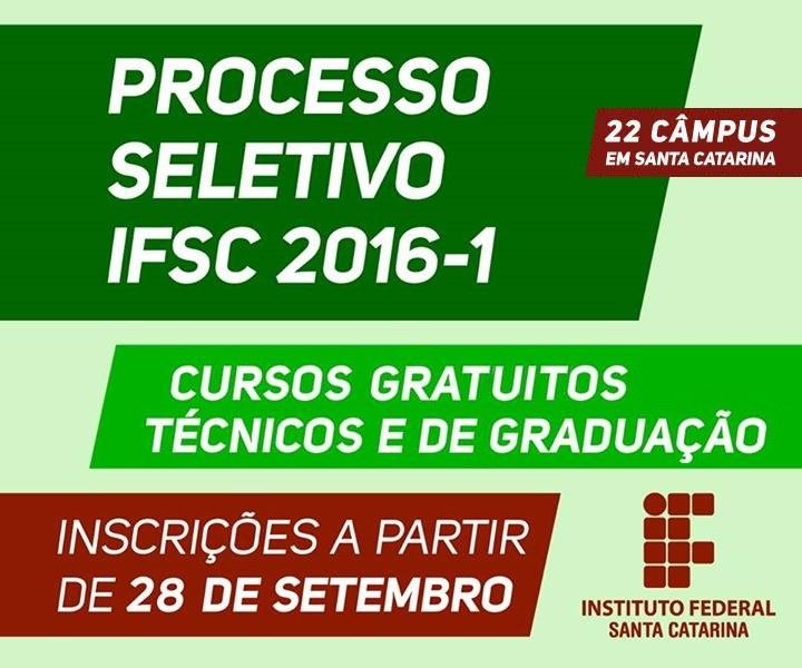 Inscrições para 4.551 vagas em cursos gratuitos técnicos e de graduação 2016/1