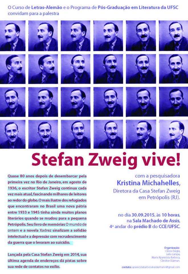 Palestra sobre o escritor austríaco Stefan Zweig