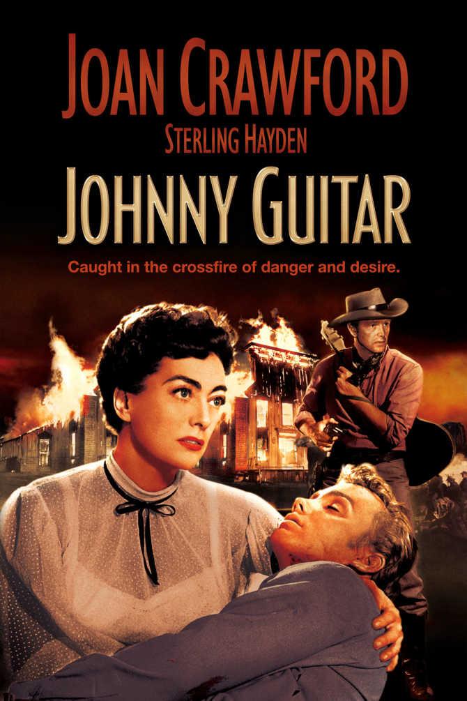 """Ícone do cinema Joan Crawford no filme """"Johnny Guitar"""" (1954) de Nicholas Ray"""