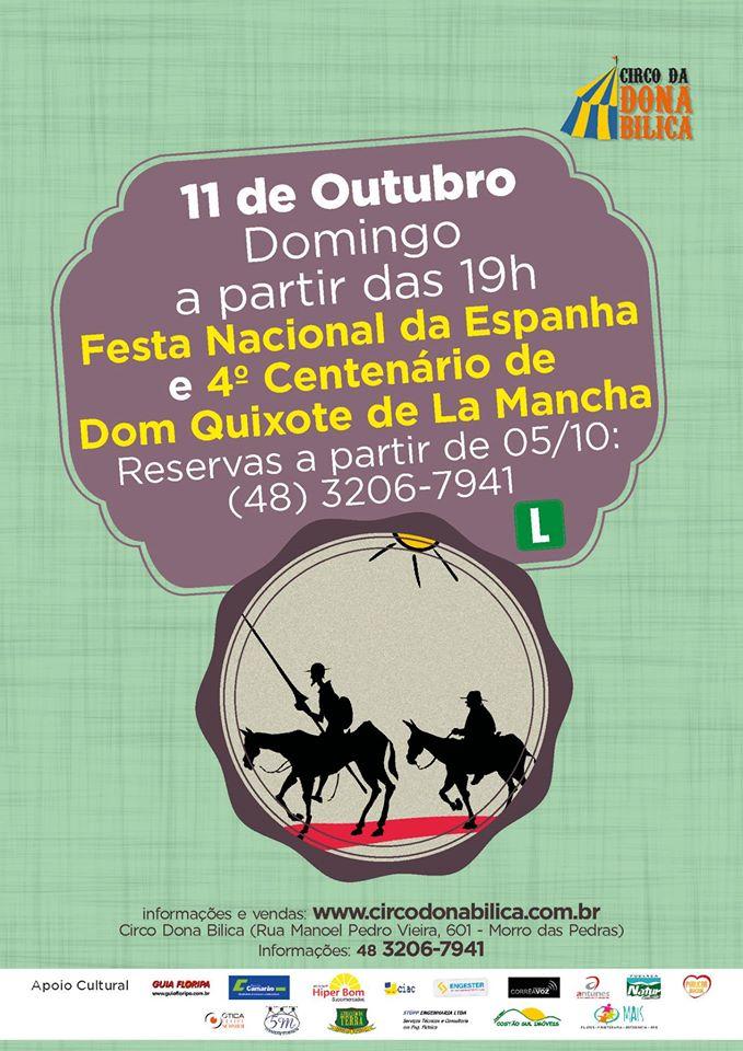 Festa Nacional da Espanha e 4º Centenário de Dom Quixote de La Mancha