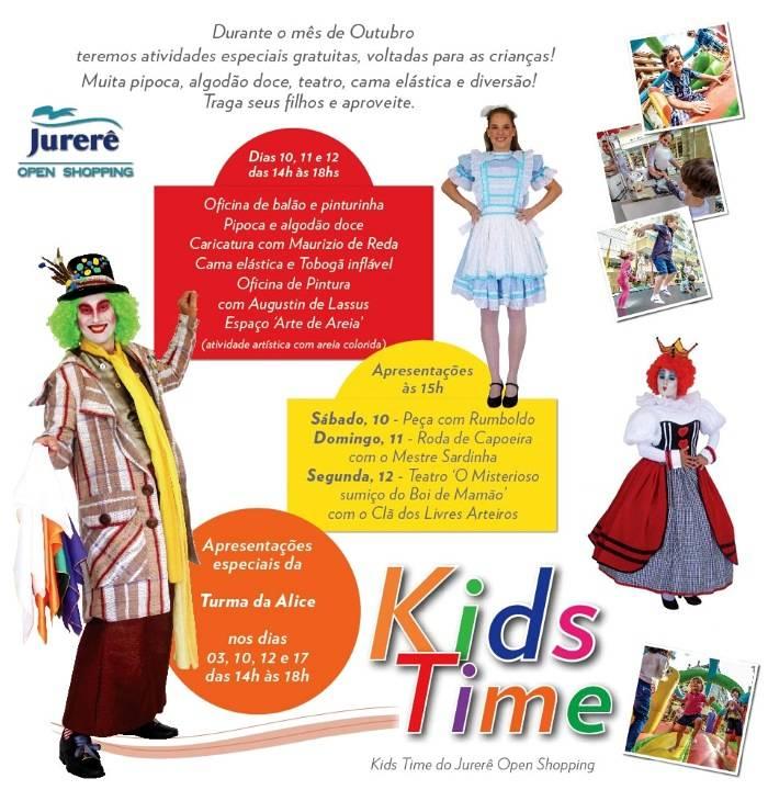 Programação para crianças Kids Time do Jurerê Open Shopping