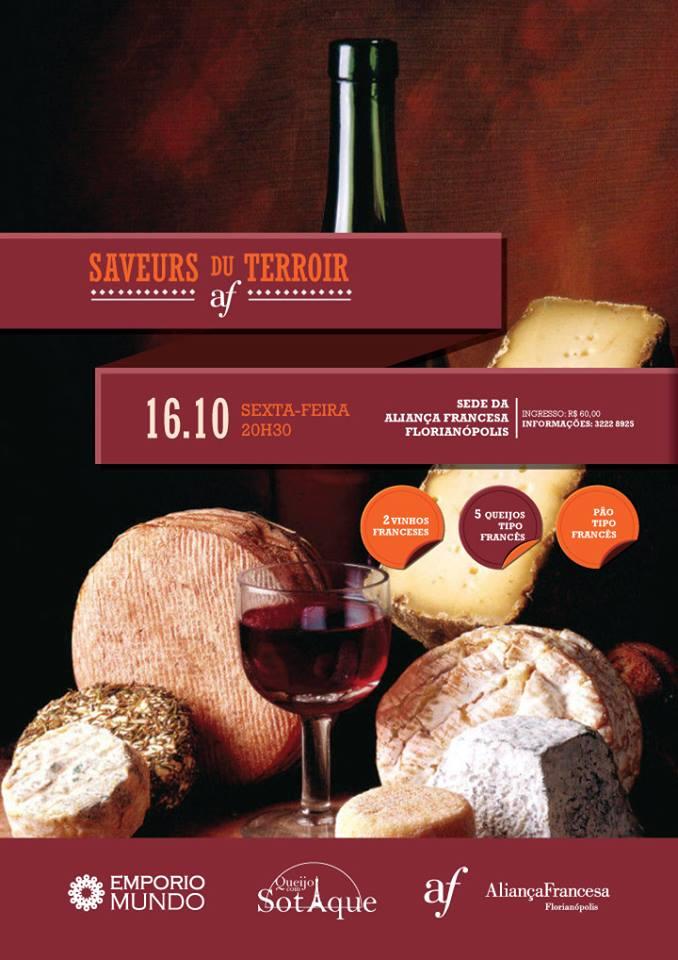 Noite de Queijos e Vinhos franceses - Saveurs du Terroirs de outubro - CANCELADO