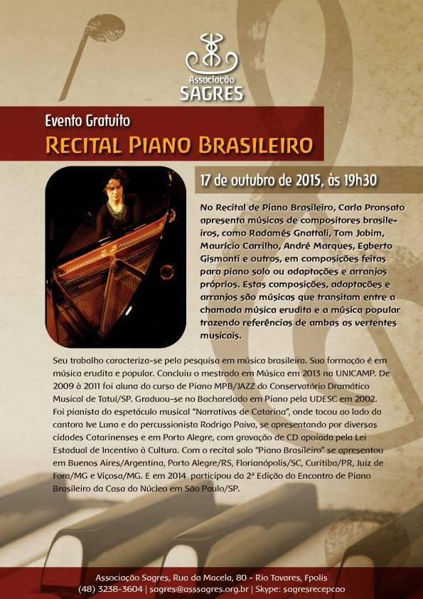 Recital de Piano Brasileiro com Carla Pronsato