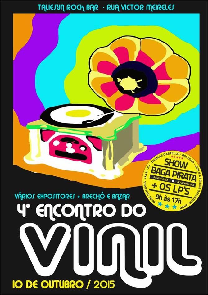 4° Encontro do Vinil - brechó, bazar, show da banda Baga-Pirata & Os Lps