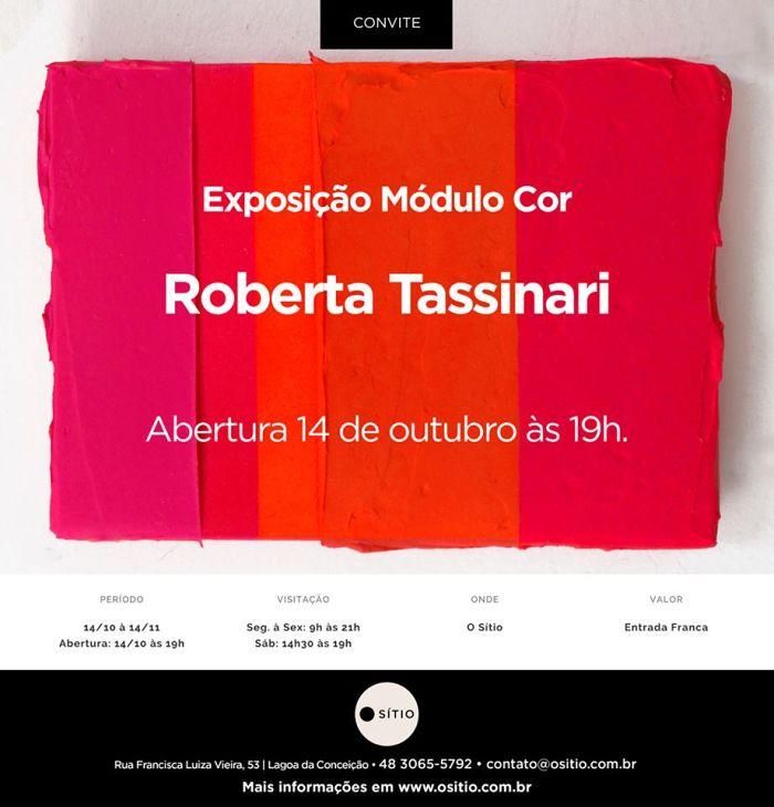 "Exposição ""Módulo Cor"", de Roberta Tassinari"