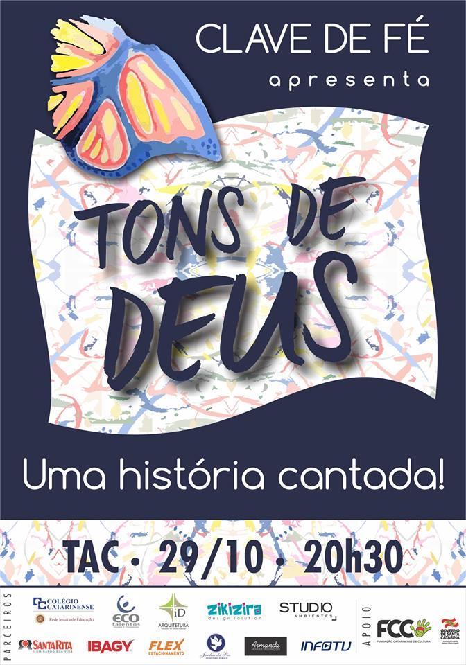"""Show musical """"Tons de Deus, uma história cantada"""" do grupo Clave de Fé"""