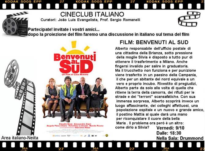 "Cineclub Italiano apresenta ""Benvenuti al sud"" (2010) - CANCELADO"