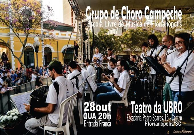 Apresentação gratuita do Grupo de Choro Campeche