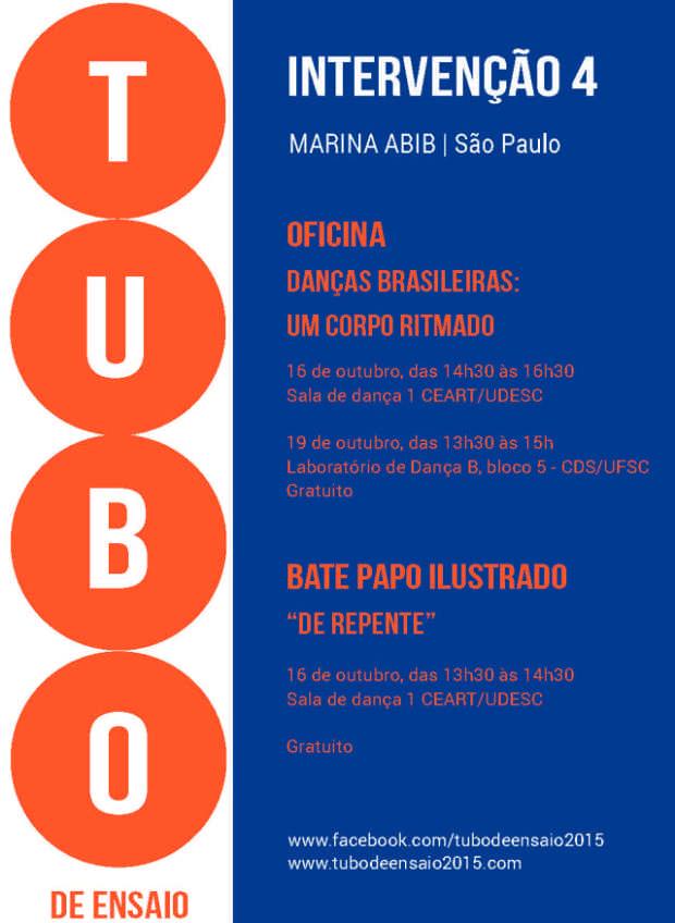 Tubo de Ensaio oferece oficina gratuita e bate-papo ilustrado com dançarina Marina Abib