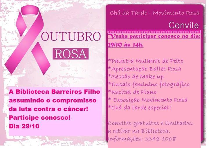 Biblioteca Barreiros Filho promove evento alusivo ao Outubro Rosa