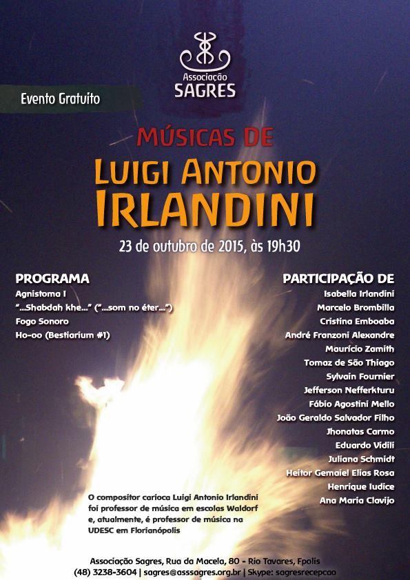 Recital gratuito de Músicas do Compositor Luigi Antonio Irlandini