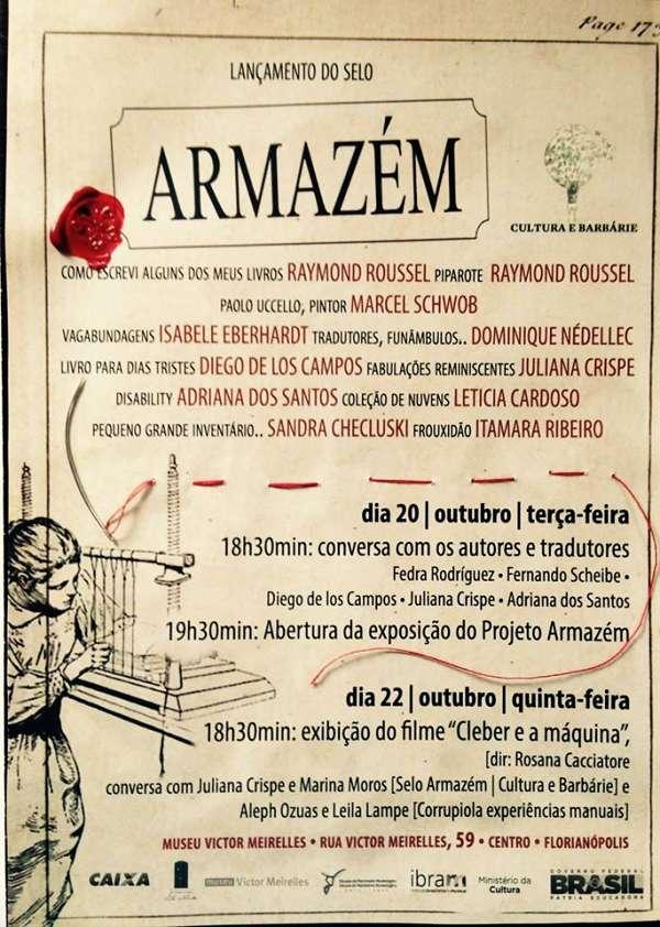 Lançamento do Selo Armazém e 6ª edição do Projeto Armazém