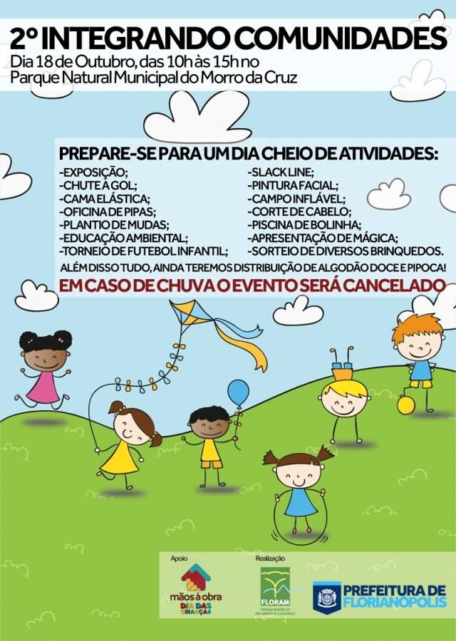 2º Integrando Comunidades - festa do Dia das Crianças no Parque do Morro da Cruz