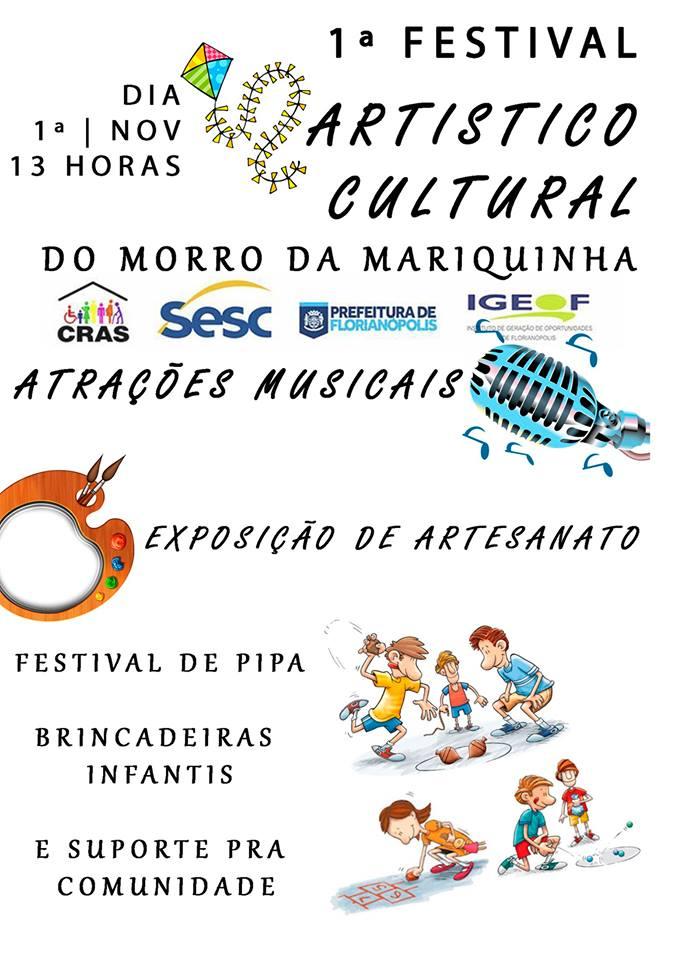 1º Festival Artístico Cultural do Morro da Mariquinha