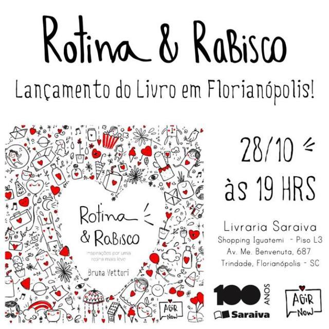 Lançamento do livro Rotina & Rabisco e sessão de autógrafos com autora