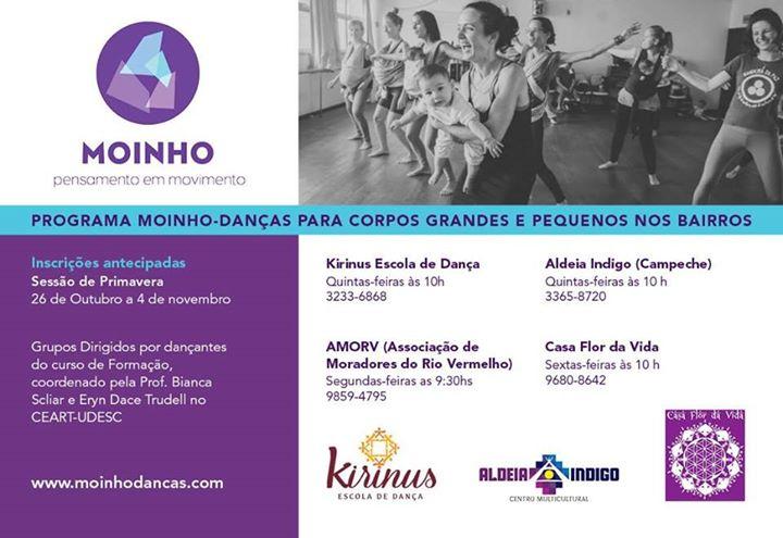 Oficinas de Dança com adultos e bebês - Programa Moinho