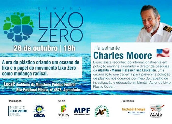 Palestra gratuita com expert Cap. Charles Moore - Semana Lixo Zero