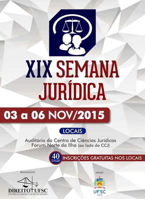 XIX Semana Jurídica Direito UFSC