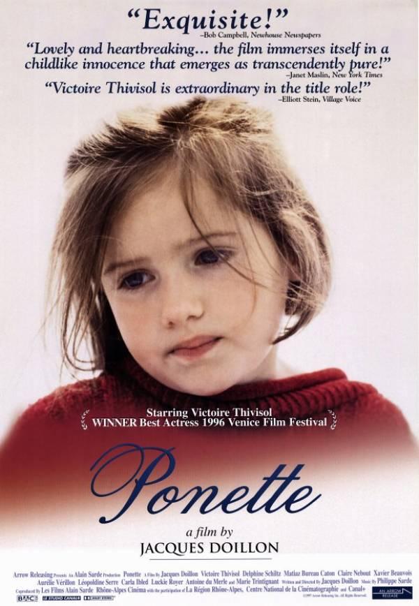"Cineclube Badesc exibe drama francês ""Ponette"" (1996) de Jacques Doillon"