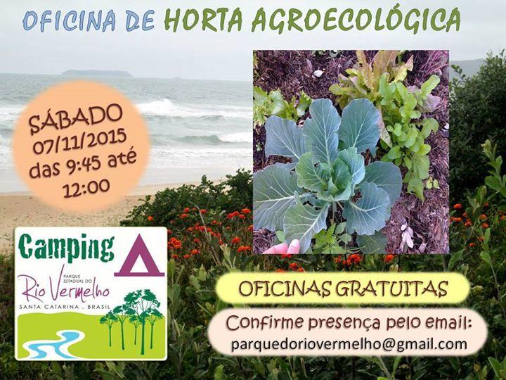"""Oficina gratuita de Horta Agroecológica do ciclo """"Saber na Prática"""""""