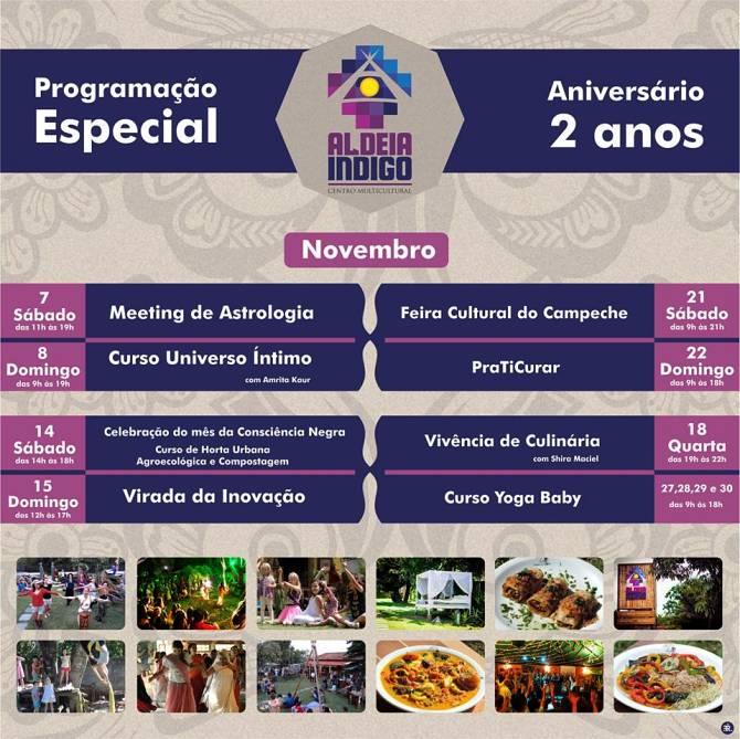 Aldeia Indigo celebra aniversário de 2 anos com programação especial