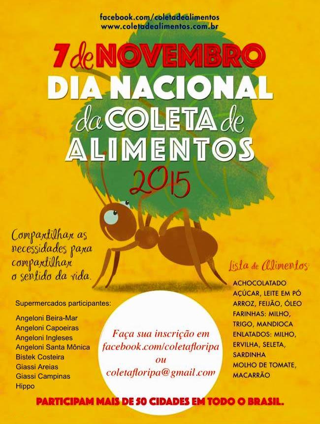10ª edição do Dia Nacional de Coleta de Alimentos