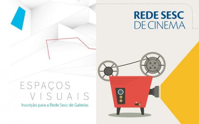 Abertas as inscrições para Rede Sesc de Cinema e de Galerias