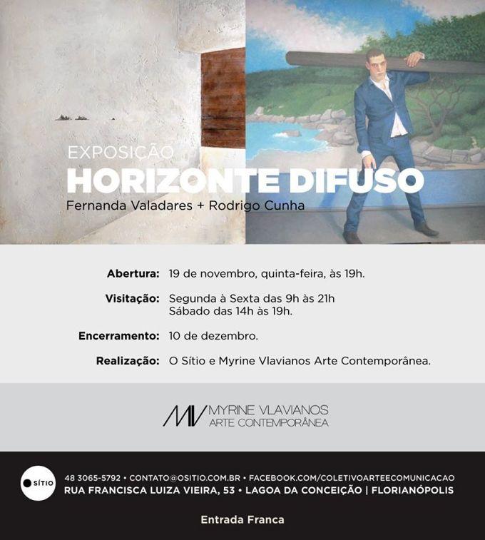 """Exposição """"Horizonte Difuso"""" de Fernanda Valadares e Rodrigo Cunha"""