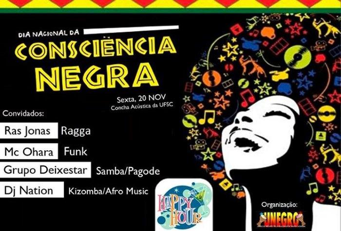 Dia da Consciência Negra - eventos culturais e Happy Hour na UFSC