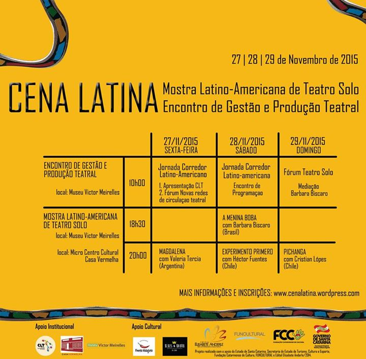 Cena Latina - Mostra Latino-Americana de Teatro Solo
