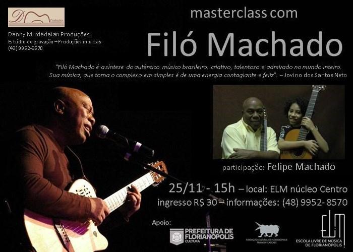 Masterclass e pocket show Filó Machado e seu neto na Escola Livre de Música