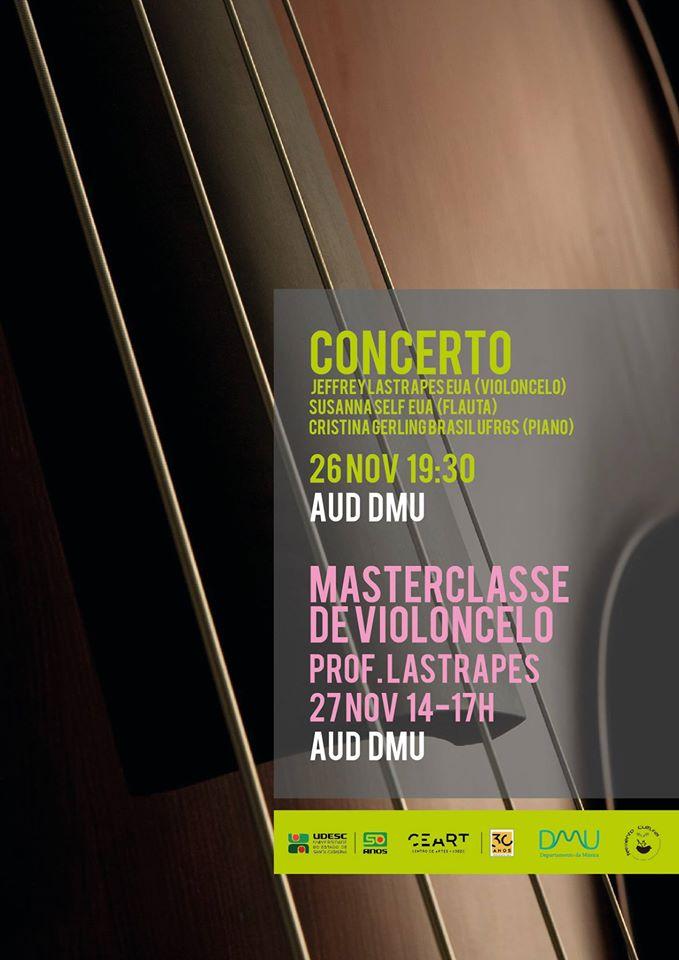Curso de Música da Udesc realiza concerto e masterclass de violoncelo