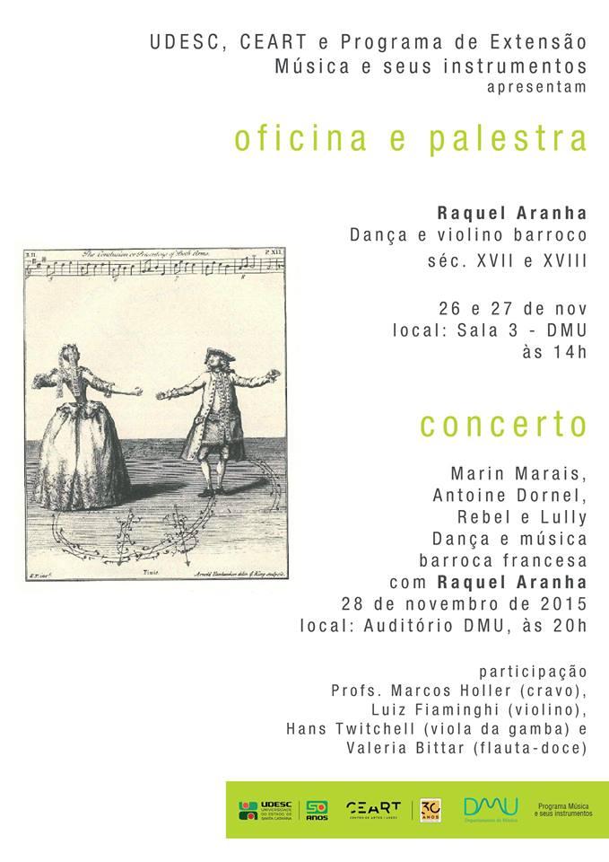 Concerto e oficina de música e dança barroca francesa