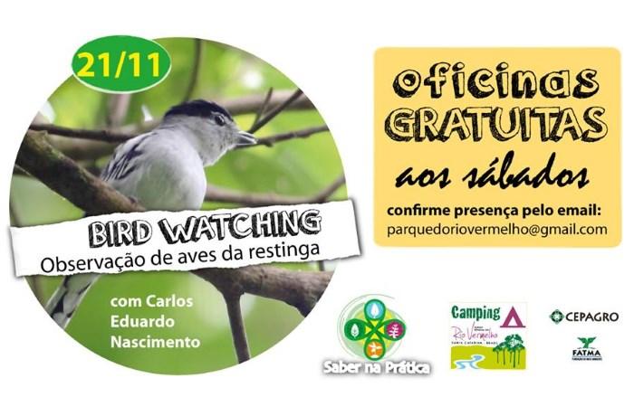 """Oficina gratuita de Observação de aves – Birdwatching do ciclo """"Saber na Prática"""""""