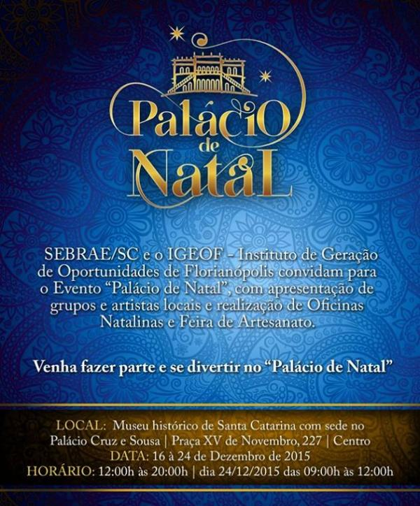"Feira de Artesanato Natalino ""Palácio de Natal"""