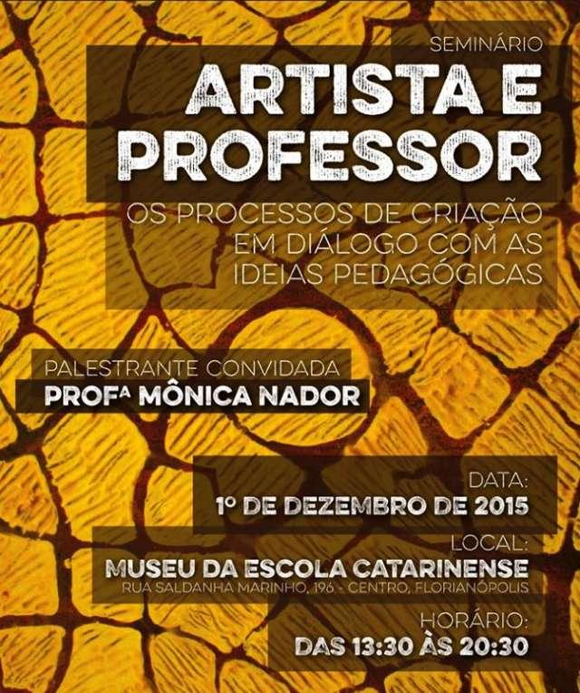 Seminário sobre relação entre artistas e professores