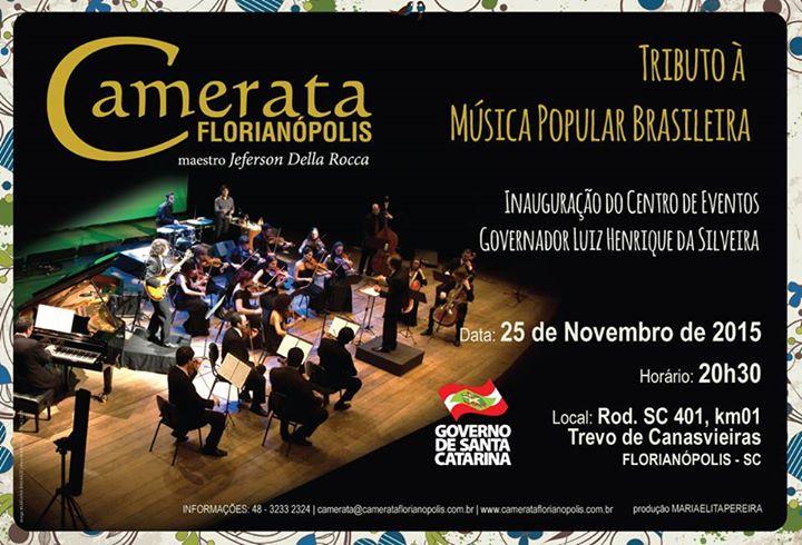 Camerata Florianópolis apresenta Tributo à Música Popular Brasileira em concerto gratuito