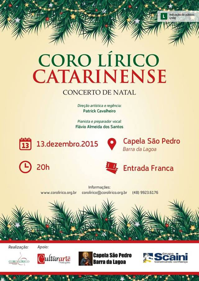 Concerto de Natal do Coro Lírico Catarinense