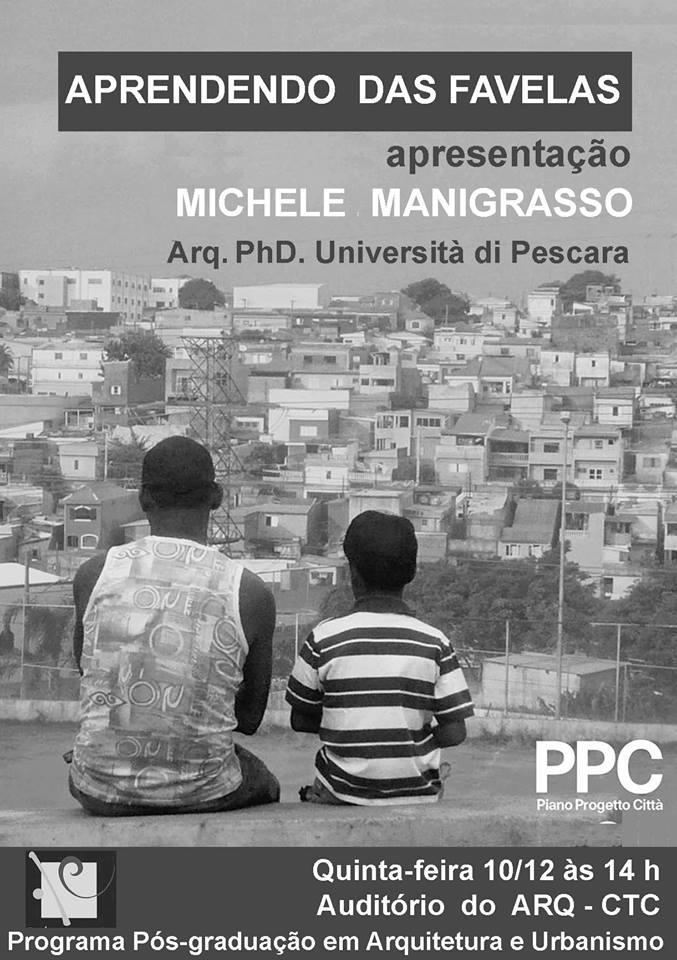 "Palestra gratuita ""Aprendendo das favelas"""