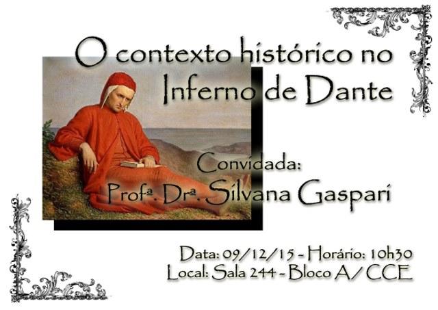 """Palestra gratuita """"O contexto histórico no Inferno de Dante"""""""