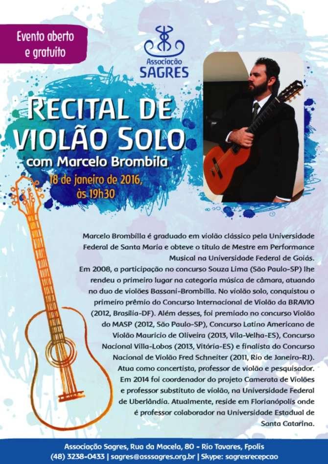 Recital gratuito de Violão Solo com Marcelo Brombilla
