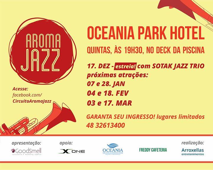 """Temporada de Verão """"Aroma Jazz"""" no Oceania Park Hotel"""
