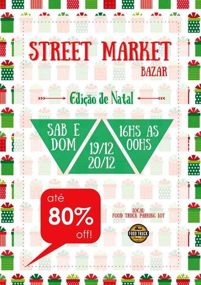 Street Market Bazar Edição de Natal