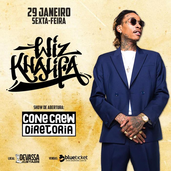 Show do rapper americano Wiz Khalifa