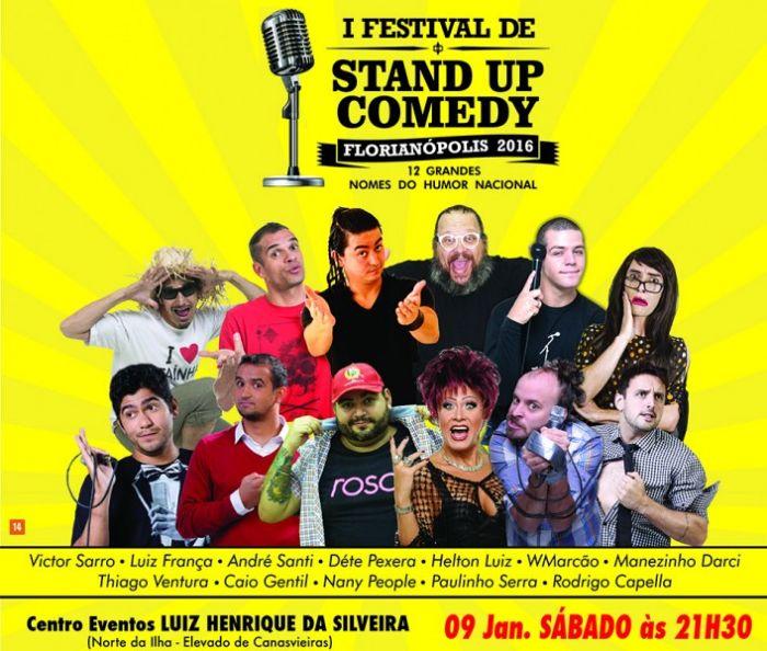 1º Festival de Stand Up Comedy reúne 12 humoristas